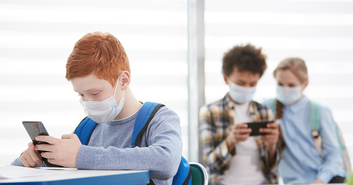 CHILDREN WEARING MASKS IN SCHOOL